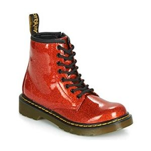 Dr. Marten Glitter Boots Holiday Red